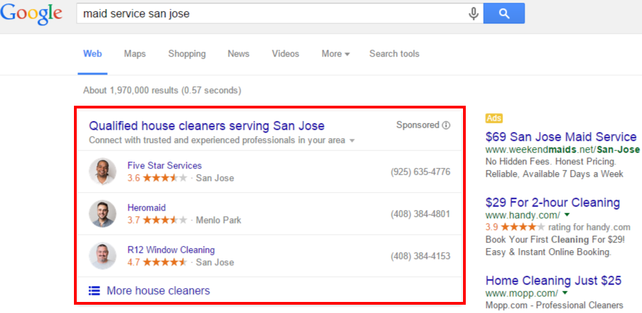 Google adwords - home service ads